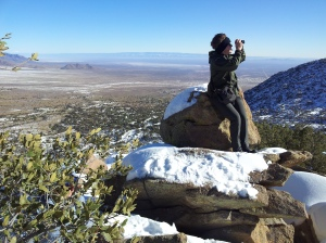 Artem taking pictures of Organ Mountains