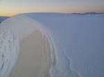 White Sands - white dunes under white snow