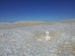 White Sands, Dec 27, 2011, the sand snow man