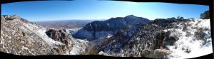 December 27, 2011, Hunter peak panorama
