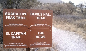 Guadalupe mountain national park. Trails