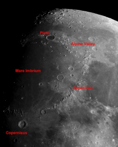 The Moon - Alpin Valley region map