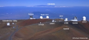 Mauna Kea observatories labeled. Image copyright Richard Wainscoat (http://www.twilightlandscapes.com/Twilight_Landscapes/Astronomy_-_Visiting_Hawaii.html)