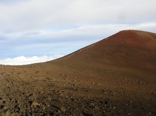 The trail to the summit
